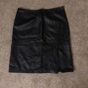Leather skirt side slit size 16